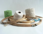 Wooden Embroidery Hoops, Lot of Six Re- purposing Sewing Hoops