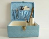 Vintage blue sewing box