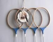 Vintage Wood Badminton Racquet's, Set of Four Rackets