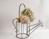 Vintage Wire Watering Can Basket