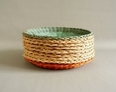 Wicker Paper Plate Holders, Set of Nine Picnic Plate Holders