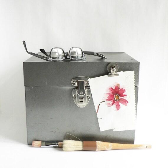 Industrial Gray Metal File/ Storage Box