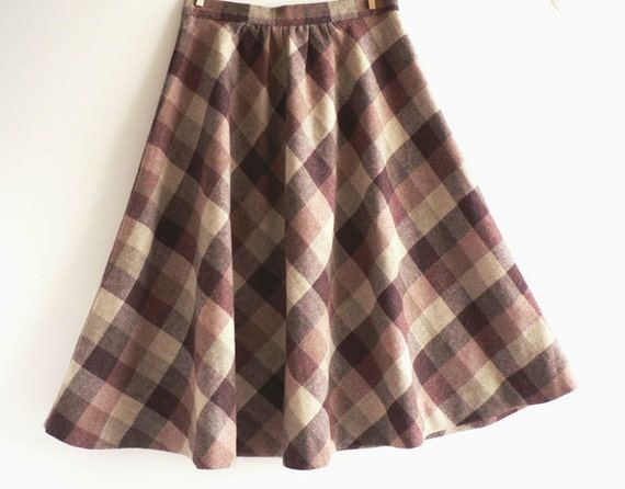 wool plaid skirt cranberry plaid a line skirt by etsplace