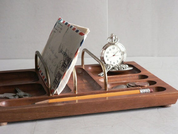 Cubby wood desk organizer mail sorter by etsplace on etsy - Desk organizer sorter ...