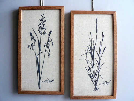 Botanicall Screen Prints by Kay Schlamp, Framed Wall Botanical Pictures
