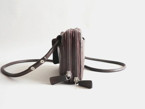 Fossil Brown Leather Wallet Shoulder Bag