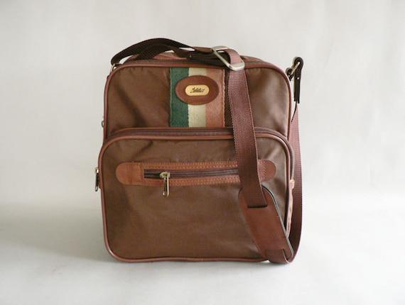 Soft Side Overnight Bag, Shoulder Messenger Bag, Brown Rucksack