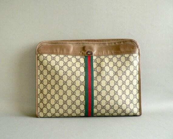 Vintage Gucci Portfolio, Business Briefcase by Gucci