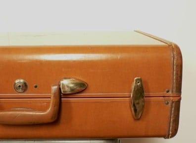 Vintage Tan Samsonite Suitcase