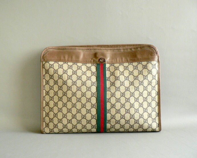 Vintage Gucci Portfolio Business Briefcase By Gucci