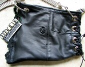 Chain Reaction-  Recycled Black Lambskin Bag