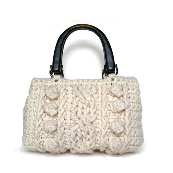 Crocheted Wool Cable Purse Pattern PDF by littleprojects on Etsy