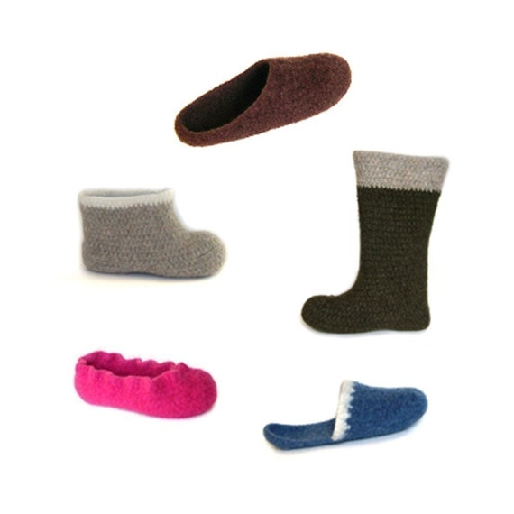 Felted Slipper Collection Pattern PDF