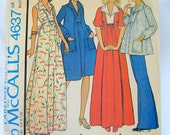 Vintage 1975 McCalls 4637 Maternity Pattern - Maternity Dress, Top or Pants - Size 10