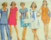 Vintage 1970 Simplicity 8855 Maternity Pattern - Size 12