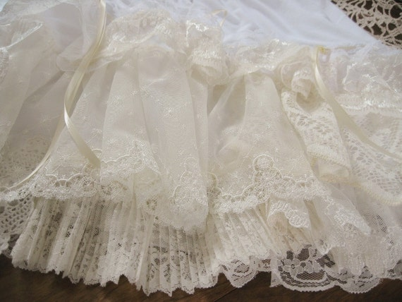 Made to order Shabby Chic Petticoats OR Skirts with layers of Cotton and Lace - each one is unique