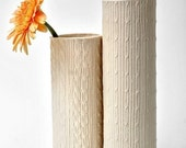 Porcelain Knitware Vase--Flat Mod Cable