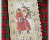 Christmas Gift Tags 4 Vintage Santas Hang Tags