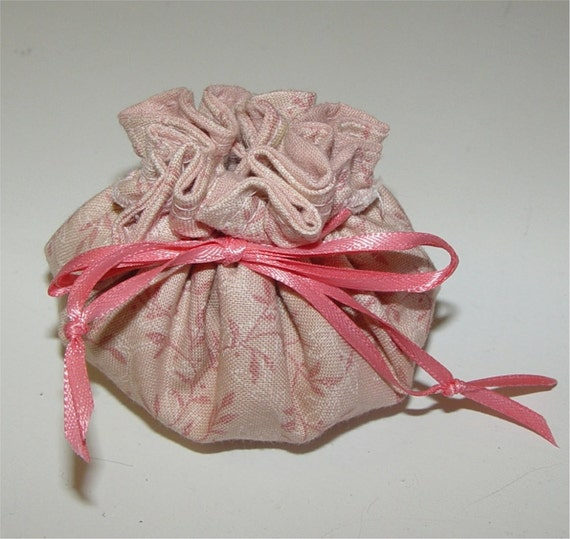 Mini Pouch for Wrapping Jewelry, Candy, Soap, Other Small Gifts.