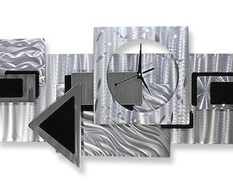 Metal Art Wall Decor Contemporary Clock Dynamic Notions 2 / By Jon Allen