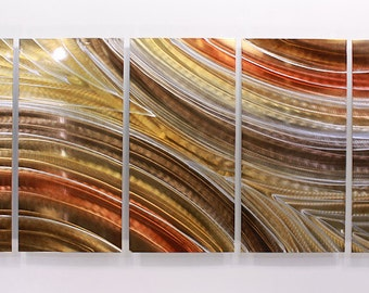 Abstract Modern Painted Metal Wall Art Autumn Passion Sculpture / by Jon Allen