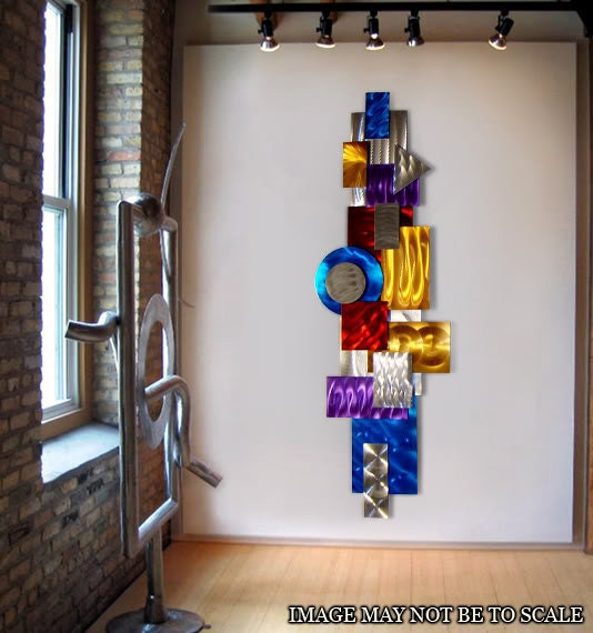 Metal Sculptures And Art Wall Decor: Colorful Abstract Metal Wall Sculpture 3D By JonAllenMetalArt