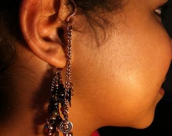 CUSTOM ORDER Unique Steampunk Copper Ear Cuff / Earcuff