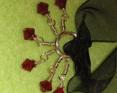 6 Red Swarovski Stitch Markers