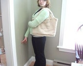 Cream Corn Recycled Wool Sweater Purse