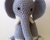 Elephant Doll crochet amigurumi plush gray Tusks