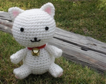 Fortune Cat with Bell Amigurumi