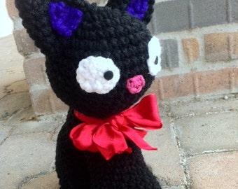 Black Cat JiJi Plush Doll Amigurumi