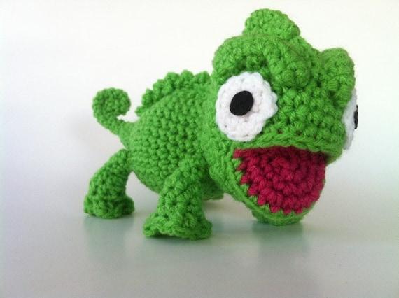 Charming Chameleon Plush Crochet Amigurumi