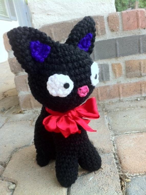 Amigurumi Pattern Free Rabbit : Black Cat JiJi Plush Doll Amigurumi