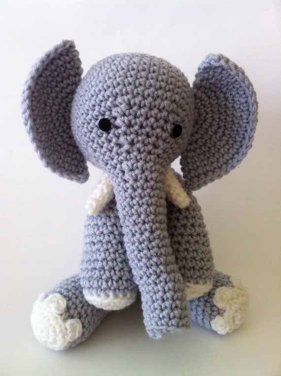 Elephant Doll crochet amigurumi plush gray Tusks