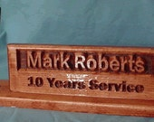 Desk Name Plate with black pen