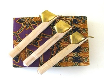 MS Traditional Batik Tools Canting Tjanting Set of 3 Sizes Bali Fair Trade