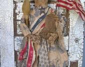 Primitive Folkart Patriotic Liberty Doll PATTERN-SPPO Libby Ann