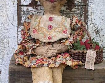 Primitve Rag Stuffed Doll Pattern  SPPO Amelia Ann