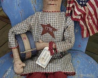 Primitive Raggedy Annie Doll Pattern-SPPO Burlap Nose Annie