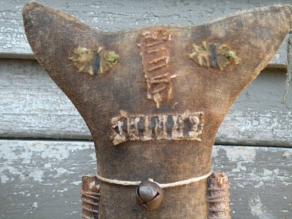 Extreme Primitive Halloween Cat Spool Doll-CAT Cut To Order ONLY