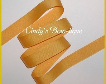 Yellow Gold Ribbon Grosgrain Offray 6 yards 7/8 inch wide cbseveneight