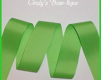 Chartreuse Grosgrain Ribbon Lime Green 5 yards 1.5 wide cbonefive