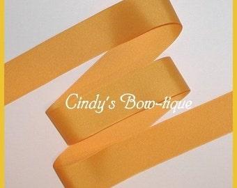 Yellow Gold Grosgrain Ribbon Light 5 yards 1 1/2 inch wide cbonefive