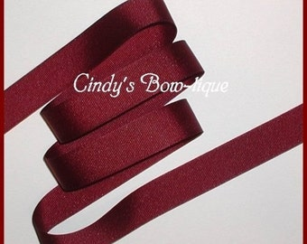 Burgundy Grosgrain Ribbon 6 yards 7/8 inch wide Offray cbseveneight