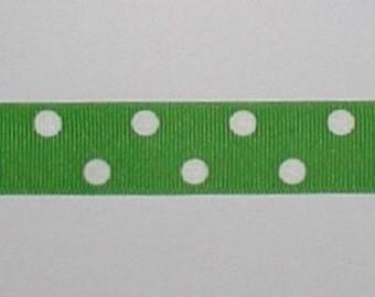 Apple Green Grosgrain Ribbon White Polka Dots Dot cbseveneight