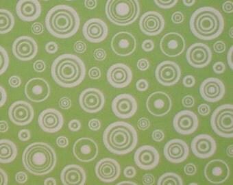 Green Target Bullseye Fabric Dots Pistachio Lime Circle White Circles Dot Green