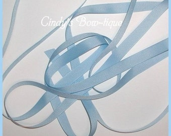 Baby Blue Grosgrain Ribbon Pastel 7 yards 5/8 wide Offray Made in USA cbfiveeight