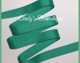 Parrot Green Ribbon Grosgrain 5 yards 7/8 inch wide Offray cbseveneight