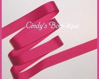 Azalea Ribbon Magenta Grosgrain Dark Pink 5 yards 7/8 wide Offray cbseveneight